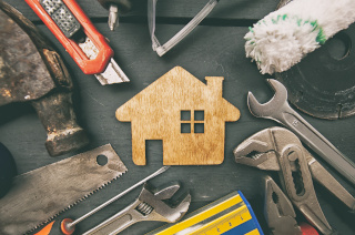 image of home with tools