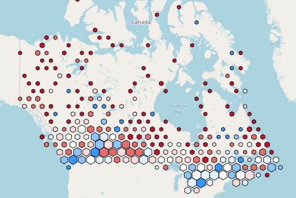 Map of Canada Broadband Access