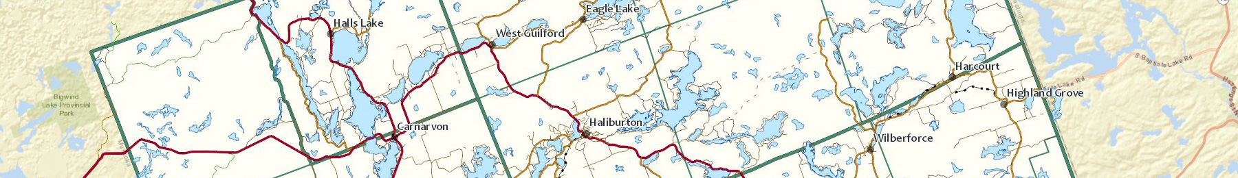 haliburton county gis map